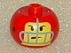 Gear No: bead003pb014  Name: Bead, Globular with Football (American) Player Face Pattern