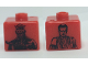 Gear No: bead004pb085  Name: Bead, Square with SW Darth Maul and Obi-Wan Kenobi Pattern