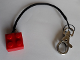 Gear No: kcbrick  Name: 2 x 2 Brick with String 19L and Metal Clip Key Chain
