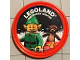 Gear No: pin155  Name: Pin, Legoland Discovery Center Holiday Elf 2 Piece Badge
