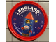 Gear No: pin183  Name: Pin, Legoland Discovery Center Rocket Man 2 Piece Badge