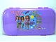 Gear No: 499345  Name: Minifigures Storage Case with Friends 'Beauty of Building' with Butterflies and Flowers Pattern, Trans-Purple