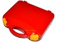 Gear No: 759528c03  Name: Storage Case with Rounded Corners and Red Lid, Yellow Latches