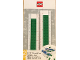 Gear No: 52396  Name: Ruler, Buildable Ruler - Green Plates with Blue Baseplates