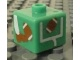 Gear No: bead004pb044  Name: Bead, Square with Football (American) and Foot and Goal Post Pattern