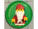 Gear No: pin186  Name: Pin, Santa 2 Piece Badge