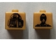 Gear No: bead004pb010  Name: Bead, Square with SW C-3PO and R2-D2 Pattern