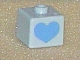 Gear No: bead004pb037  Name: Bead, Square with Heart Pattern on Opposite Sides