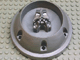 Gear No: bb0237  Name: Canister Lid, Bionicle Toa (Original) with Technic Axle Holes and Head Shape