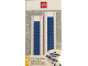 Gear No: 52399  Name: Ruler, Buildable Ruler - Blue Plates with Blue Baseplates