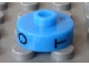 Gear No: bead001pb61  Name: Bead, Cylinder Short, Flat Edge with Black O T Z Pattern
