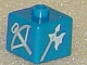 Gear No: bead004pb024  Name: Bead, Square with Castle Crossbow and Halberd Pattern