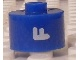 Gear No: bead029pb058  Name: Bead, Cylinder, Flat Edge with White 'F' Pattern