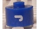 Gear No: bead029pb062  Name: Bead, Cylinder, Flat Edge with White 'J' Pattern