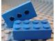 Gear No: eraser01  Name: Eraser, 2 x 4 Brick with 3 Holes on Bottom