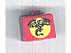 Gear No: bead004pb077  Name: Bead, Square with Black Dragon and Yellow Moon Pattern (P3110)