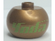 Gear No: bead003pb022  Name: Bead, Globular with SW 'Yoda' Pattern