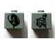 Gear No: bead004pb005  Name: Bead, Square with SW Young Anakin and Anakin/Darth Vader Pattern