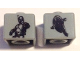 Gear No: bead004pb089  Name: Bead, Square with SW Jango Fett / Slave 1 Pattern