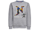 Gear No: skeet709  Name: Sweatshirt, Ninjago 'MASTERS OF SPINJITZU' and 'N' Pattern Boys (Skeet 709)