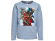 Gear No: tony714  Name: T-Shirt, Ninjago Kai, Jay, Titanium Zane Boys Long Sleeve (Tony 714)