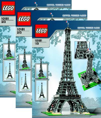 Bricklink Instruction 10181 1 Lego Eiffel Tower 1300 Scale