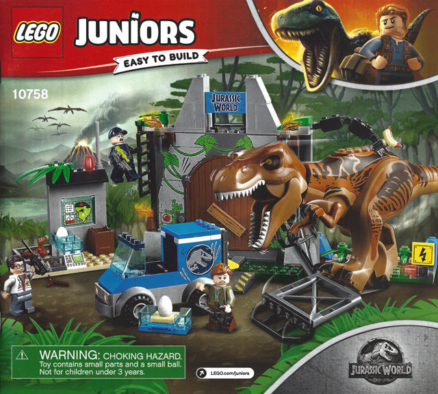 BrickLink   Instruction 10758 1 : Lego T. Rex Breakout [Juniors:Jurassic  World]   BrickLink Reference Catalog