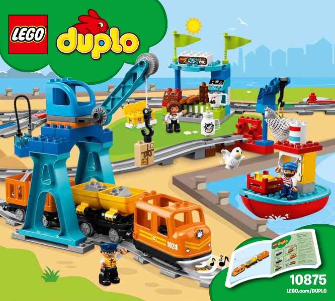 Bricklink Instruction 10875 1 Lego Cargo Train Duploduplo