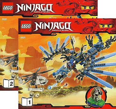 Bricklink Instruction 2521 1 Lego Lightning Dragon Battle