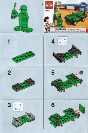 Bricklink Instruction 30071 1 Lego Army Jeep Polybag Toy Story