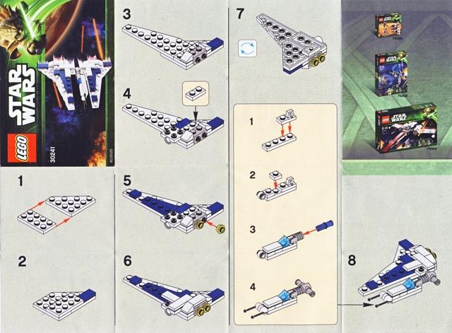 Bricklink Instruction 30241 1 Lego Mandalorian Fighter Mini