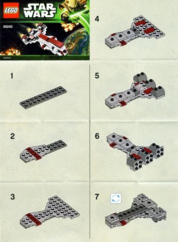 Bricklink Instruction 30242 1 Lego Republic Frigate Mini