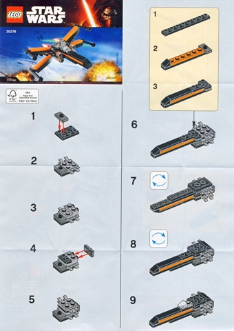 Bricklink Instruction 30278 1 Lego Poes X Wing Fighter Mini