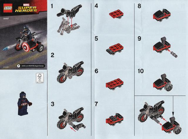 Bricklink Instruction 30447 1 Lego Captain Americas Motorcycle