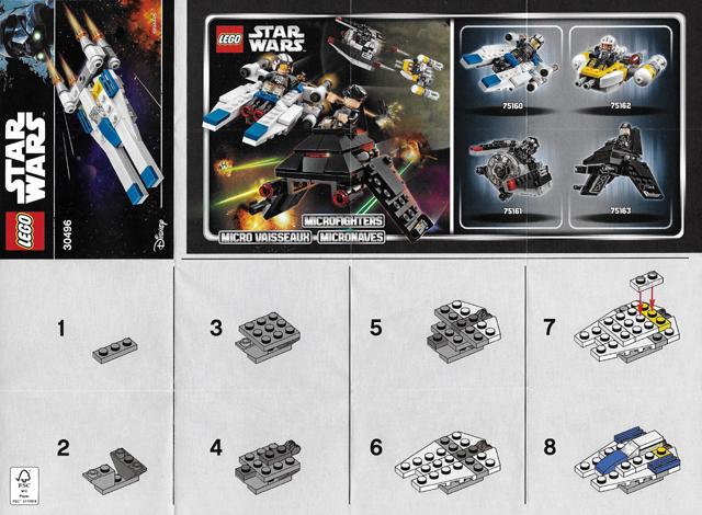 Bricklink Instruction 30496 1 Lego U Wing Fighter Mini Polybag