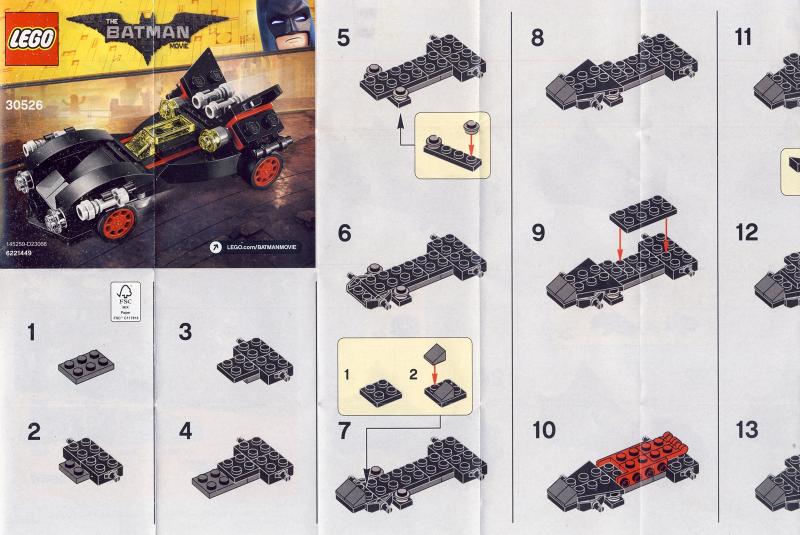 Bricklink Instruction 30526 1 Lego The Mini Ultimate Batmobile