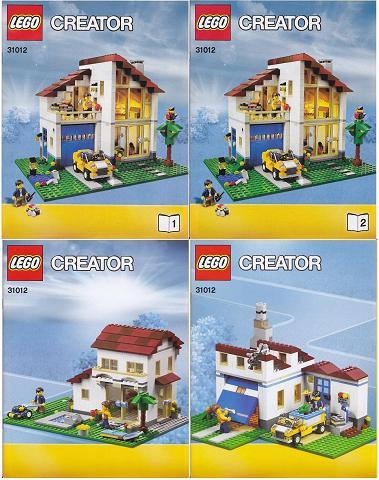 Bricklink Instruction 31012 1 Lego Family House Creatormodel