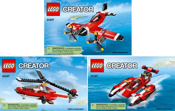 Bricklink Instruction 31047 1 Lego Propeller Plane Creator