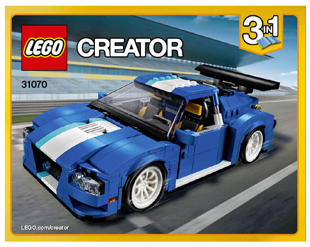Bricklink Instruction 31070 1 Lego Turbo Track Racer Creator
