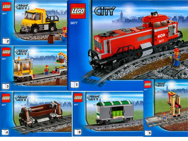 Bricklink Instruction 3677 1 Lego Red Cargo Train Trainrc