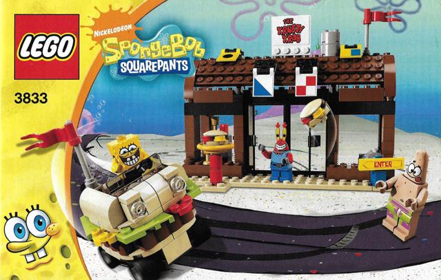 Bricklink Instruction 3833 1 Lego Krusty Krab Adventures
