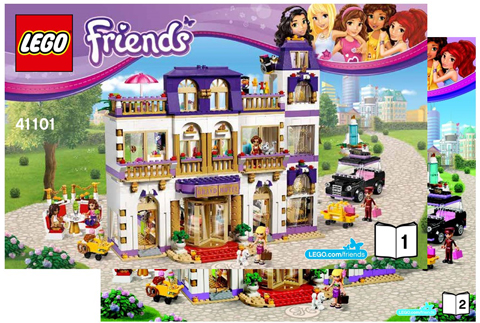 Bricklink Instruction 41101 1 Lego Heartlake Grand Hotel