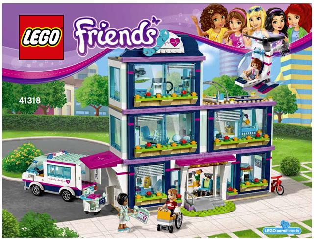 Bricklink Instruction 41318 1 Lego Heartlake Hospital Friends