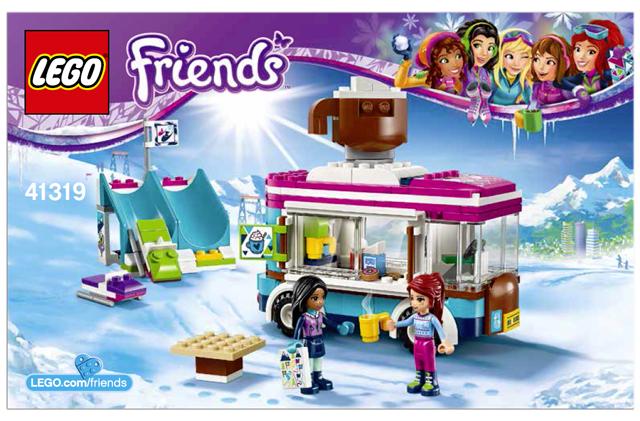 Bricklink Instruction 41319 1 Lego Snow Resort Hot Chocolate Van
