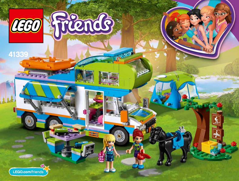 Bricklink Instruction 41339 1 Lego Mias Camper Van Friends