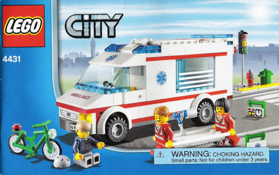 Bricklink Instruction 4431 1 Lego Ambulance Towncityhospital