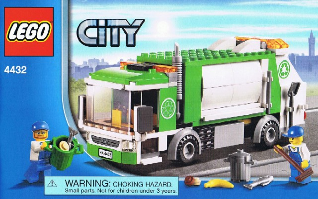 Lego garbage truck instructions 4432, city.