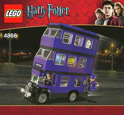 Bricklink Instruction 4866 1 Lego The Knight Bus Harry Potter