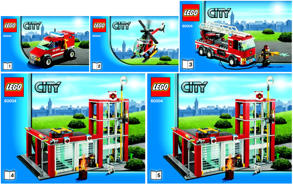 Bricklink Instruction 60004 1 Lego Fire Station Towncityfire