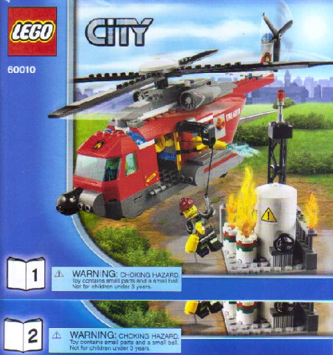 Bricklink Instruction 60010 1 Lego Fire Helicopter Marked For